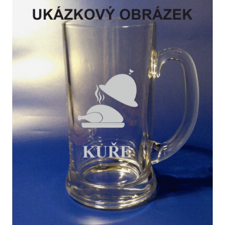 Pískovaný pivní tuplák se jménem a obrázkem ostatní 1