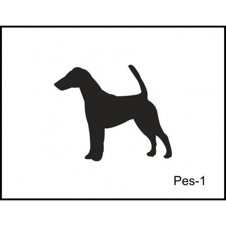 Pískovaná třetinka se jménem a obrázkem motiv psi