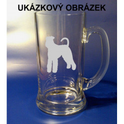 Pivní tuplák s obrázkem psa