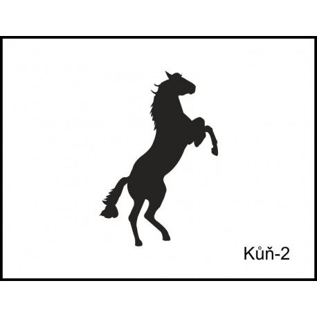 Pískovaný tuplák se jménem a obrázkem motiv koně