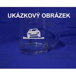 Pískovaná hrnek se jménem a obrázkem auto 4