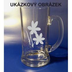 Pískovaný pivní tuplák se jménem a obrázkem příroda 1